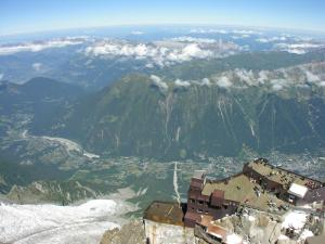 Aiguille du Midi, in the Mont Blanc massif (French Alps)