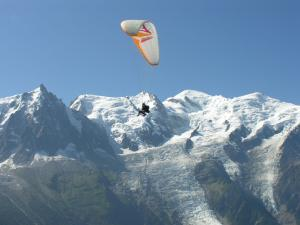 Paragliding in the Mont Blanc