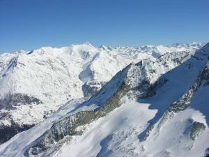 Snowy peaks in Savoie, France