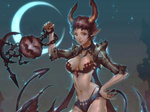 Demoness on Halloween night