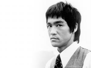 Serious face of Bruce Lee