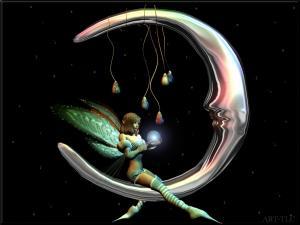 A fairy on the moon