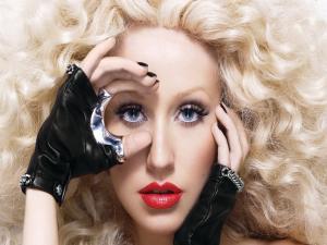 Christina Aguilera's face