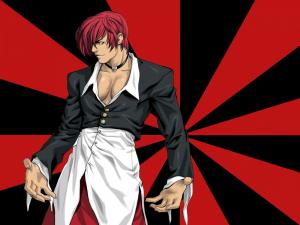 """Iori Yagami, a character from the video game """"The King of Fighters"""""""