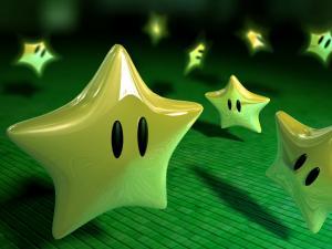 Golden stars of Mario Bros