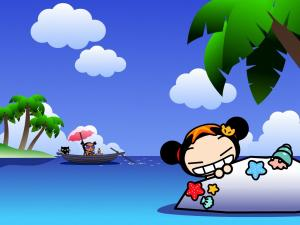 Pucca on the beach