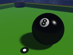 The black ball (8 ball)