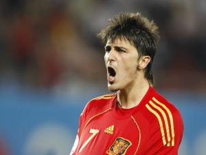 David Villa, player of the Spanish National Team
