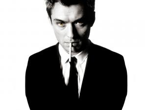 Jude Law with a cigarette