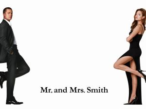 "Brad Pitt and Angelina Jolie in ""Mr. & Mrs. Smith"""