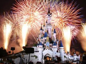 Fireworks at Disney castle