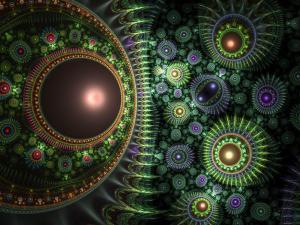 Green fractal figures