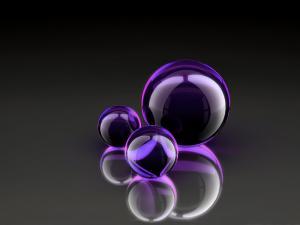 Purple glass spheres