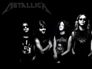Metallica in black and white