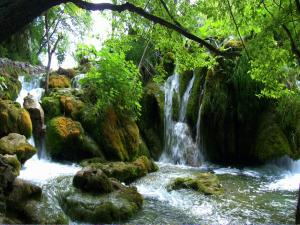 Waterfalls in the Plitvice Lakes National Park (Croatia)