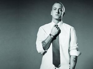 Eminem with tie