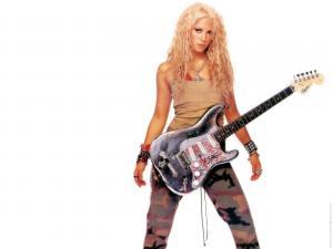 Shakira with guitar