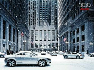 Ad by Audi under the snow