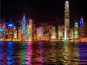Symphony of lights in Hong Kong