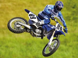 Great jumping a motocross rider