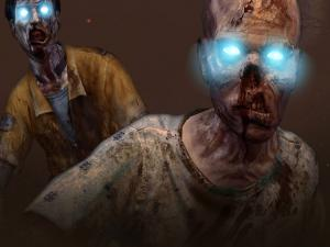 "Zombies with illuminated eyes in Call of Duty: Black Ops 2 ""Zombies"""