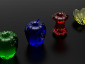 Apples of colored glass
