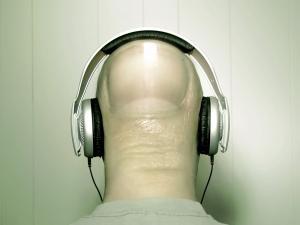 A finger listening music