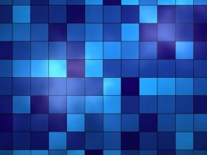 Grids of blue tones