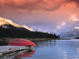 A lake in Alberta (Canada)