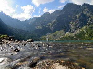Morskie Oko, a lake in the Tatra Mountains (Poland)
