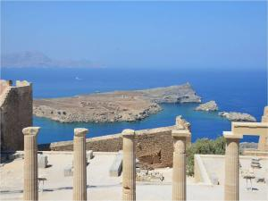 Acropolis of Lindos on the island of Rhodes (Greece)