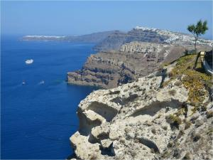Cliffs in Santorini (Greece)