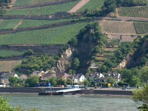 Rhine valley on its way through Germany