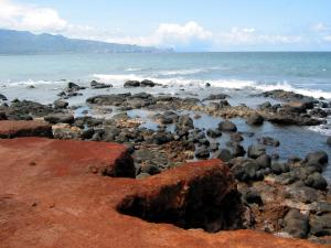 A rocky beach in Maui (Hawaii)