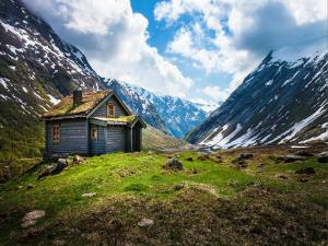 A cottage in the Norwegian mountains