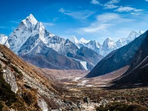 Mount Ama Dablam, in the Himalayan range