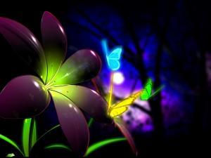 Fluorescent butterflies