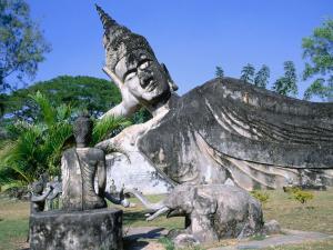 Buddha lying down in Buddha Park (Vientiane, Laos)