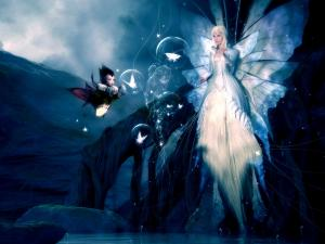 The fairy of the enchanted swamp