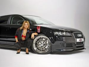 Girl with Audi A3 Sportback