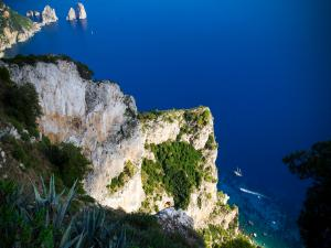 From the top of Mount Solaro on Capri, Italy
