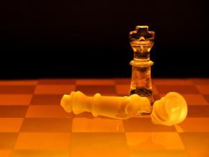 Yellow glass chess