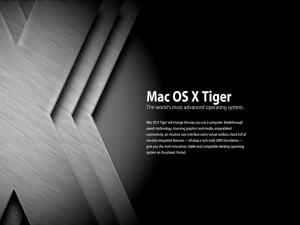 Mac OS X Tiger. The world's most advanced operating system