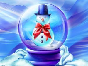 Snowman in a glass ball