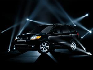 Mid-size crossover SUV Hyundai Santa Fe in black color