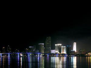 Nightly skyline of Miami