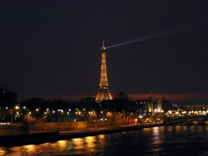 The Eiffel Tower at night (Paris)