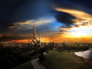 City full of minarets