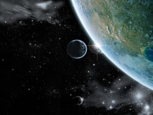 The Earth touching the Universe
