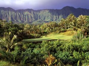 3rd hole in Luana Hills, Oahu, Hawaii